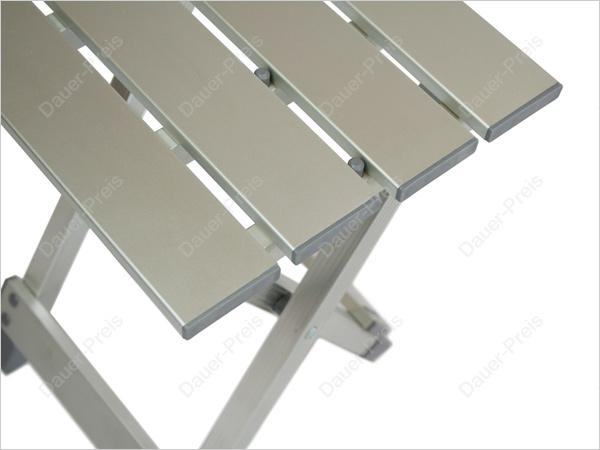 alu tisch 2 hocker klapptisch campingtisch klappbar set ebay. Black Bedroom Furniture Sets. Home Design Ideas