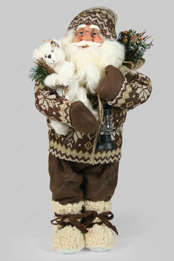 weihnachtsmann santa claus nikolaus 61 cm gro figur ebay. Black Bedroom Furniture Sets. Home Design Ideas